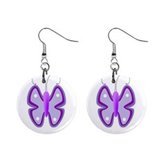 Cute Awareness Butterfly Mini Button Earrings