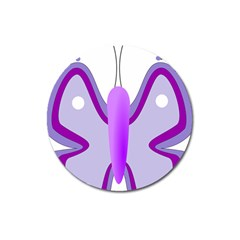 Cute Awareness Butterfly Magnet 3  (round)