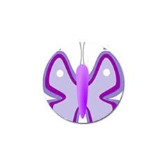 Cute Awareness Butterfly Golf Ball Marker 4 Pack