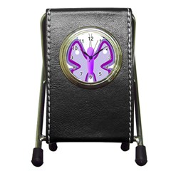 Cute Awareness Butterfly Stationery Holder Clock