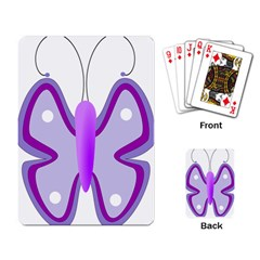 Cute Awareness Butterfly Playing Cards Single Design