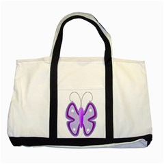 Cute Awareness Butterfly Two Toned Tote Bag