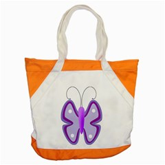 Cute Awareness Butterfly Accent Tote Bag