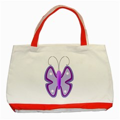 Cute Awareness Butterfly Classic Tote Bag (Red)