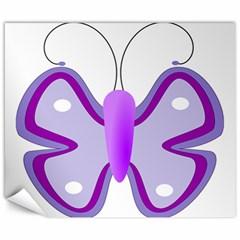 Cute Awareness Butterfly Canvas 8  x 10  (Unframed)