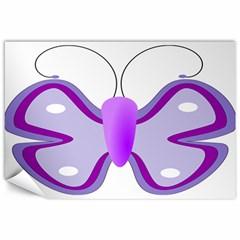 Cute Awareness Butterfly Canvas 12  x 18  (Unframed)