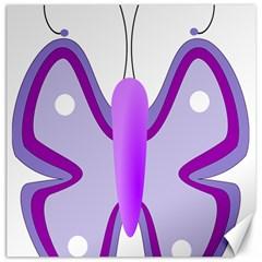 Cute Awareness Butterfly Canvas 20  X 20  (unframed)