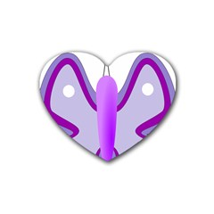 Cute Awareness Butterfly Drink Coasters (Heart)