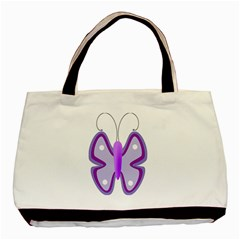 Cute Awareness Butterfly Twin-sided Black Tote Bag