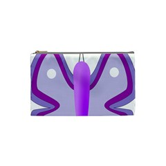 Cute Awareness Butterfly Cosmetic Bag (small)