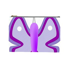 Cute Awareness Butterfly Cosmetic Bag (large)