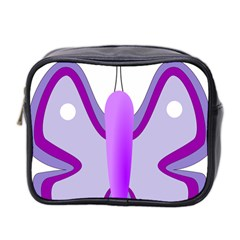 Cute Awareness Butterfly Mini Travel Toiletry Bag (Two Sides)