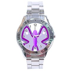 Cute Awareness Butterfly Stainless Steel Watch