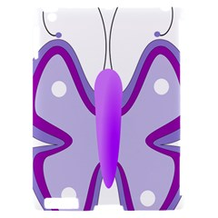Cute Awareness Butterfly Apple iPad 2 Hardshell Case (Compatible with Smart Cover)