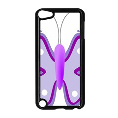 Cute Awareness Butterfly Apple Ipod Touch 5 Case (black)