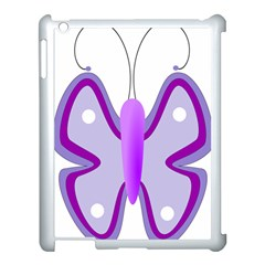 Cute Awareness Butterfly Apple Ipad 3/4 Case (white)