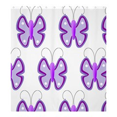 Cute Awareness Butterfly Shower Curtain 66  x 72  (Large)