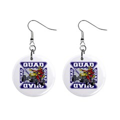 Quad Racer 1  Button Earrings