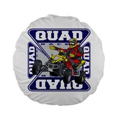 Quad Racer 15  Premium Round Cushion