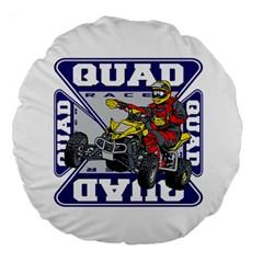 Quad Racer 18  Premium Round Cushion
