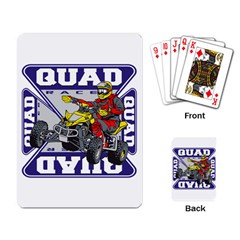 Quad Racer Playing Cards Single Design
