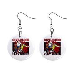 Sprint Car Do It In The Dirt 1  Button Earrings