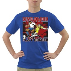 Give Blood Play Soccer Dark T Shirt