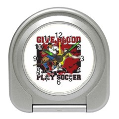 Give Blood Play Soccer Travel Alarm Clock