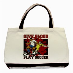 Give Blood Play Soccer Classic Tote Bag