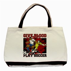 Give Blood Play Soccer Classic Tote Bag (Two Sides)