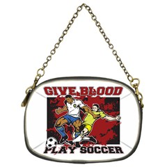 Give Blood Play Soccer Chain Purse (one Side)
