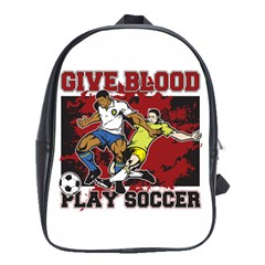 Give Blood Play Soccer School Bag (Large)