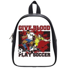 Give Blood Play Soccer School Bag (small)