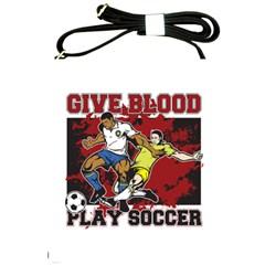 Give Blood Play Soccer Shoulder Sling Bag
