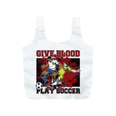 Give Blood Play Soccer Full Print Recycle Bag (s)