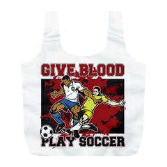 Give Blood Play Soccer Full Print Recycle Bag (L)
