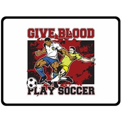 Give Blood Play Soccer Fleece Blanket (Extra Large)