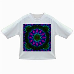 Star Of Leaves, Abstract Magenta Green Forest Baby T-shirt