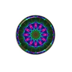 Star Of Leaves, Abstract Magenta Green Forest Golf Ball Marker 4 Pack (for Hat Clip)
