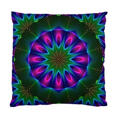 Star Of Leaves, Abstract Magenta Green Forest Cushion Case (Single Sided)