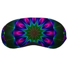 Star Of Leaves, Abstract Magenta Green Forest Sleeping Mask