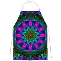 Star Of Leaves, Abstract Magenta Green Forest Apron