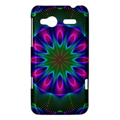 Star Of Leaves, Abstract Magenta Green Forest HTC Radar Hardshell Case