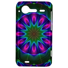 Star Of Leaves, Abstract Magenta Green Forest HTC Incredible S Hardshell Case