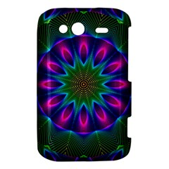 Star Of Leaves, Abstract Magenta Green Forest HTC Wildfire S A510e Hardshell Case
