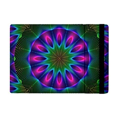 Star Of Leaves, Abstract Magenta Green Forest Apple iPad Mini Flip Case