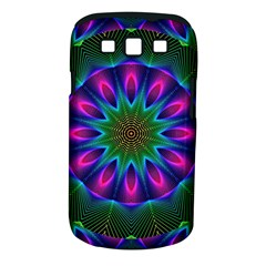 Star Of Leaves, Abstract Magenta Green Forest Samsung Galaxy S III Classic Hardshell Case (PC+Silicone)
