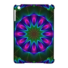 Star Of Leaves, Abstract Magenta Green Forest Apple Ipad Mini Hardshell Case (compatible With Smart Cover)