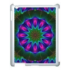 Star Of Leaves, Abstract Magenta Green Forest Apple Ipad 3/4 Case (white)