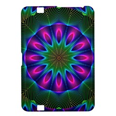 Star Of Leaves, Abstract Magenta Green Forest Kindle Fire HD 8.9  Hardshell Case